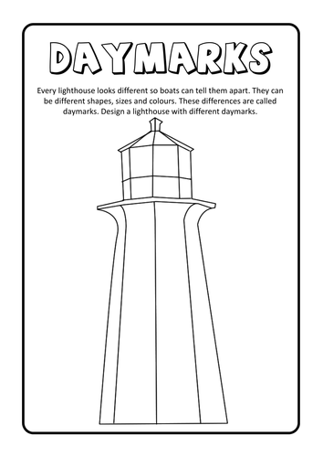 lighthouse keepers lunch coloring pages - photo#24