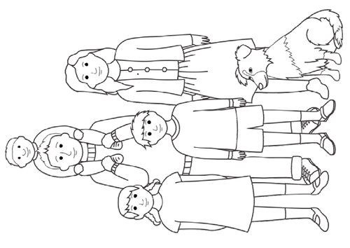 bear hunt coloring pages - photo#31