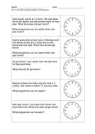 Year 1 - Maths Time Problems (New Curriculum)
