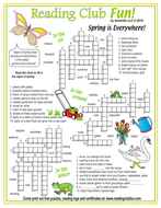Signs of Spring Everywhere Crossword Puzzles