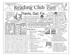 Bundle: Another Father's Day Two-Page Activity Set and Word Search Puzzle