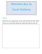 Billionaire Boy David Walliams Study Pack