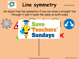 lines of symmetry in objects powerpointppt