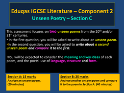 How to Respond to Unseen Poetry - Eduqas GCSE English Literature Component 2 – Section C
