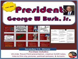 president george w bush jr powerpoint lecture by chalkdustdiva