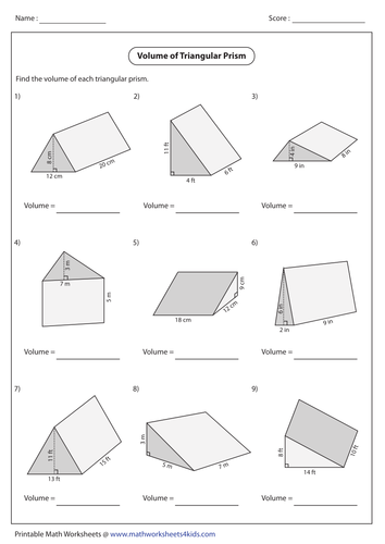 volume of triangular prisms powerpoint and good scaffolded worksheet by chloeharper10. Black Bedroom Furniture Sets. Home Design Ideas