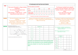 GCSE standard deviation