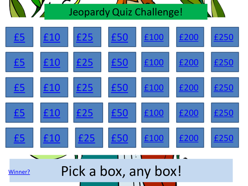 GCSE Of Mice and Men / Romeo and Juliet Jeopardy Quiz