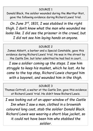 The Merthyr Riots of 1831 - was Dic Penderyn guilty?