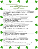 The Green Game: Test Your Knowledge on all things GREEN!