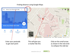 Using Google maps for measuring distance by SimonSquire - Teaching on