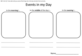Sequencing Daily Events Picture / writing activity. by