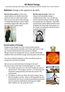 All About Energy: 7-page booklet of conceptual explanations and examples for A-level Mechanics 2