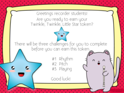 Twinkle twinkle little star recorder cat challenge powerpoint twinkle twinkle little star recorder cat challenge powerpoint lesson with music by sillyomusic teaching resources tes m4hsunfo