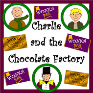Charlie and the Chocolate Factory worksheets, display materials, activities- ROALD DAHL
