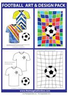 Football, sport themed  art, design and classroom decor resource