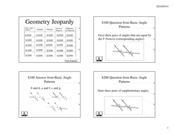 geometry jeopardy power point by calfordmath teaching resources tes