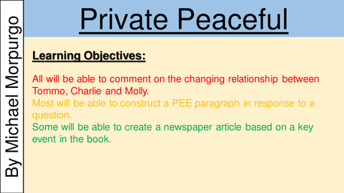 private peaceful essay characters