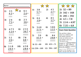 differentiated written addition worksheet by prof  teaching  differentiated written addition worksheet