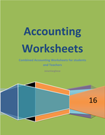 accounting worksheets a complete handout for students and teachers
