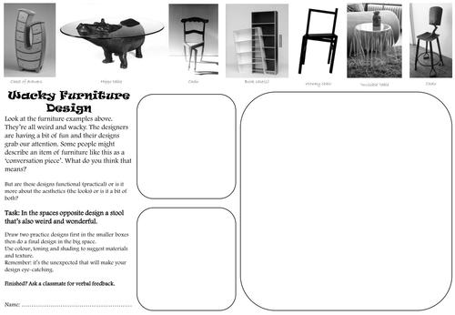 Design Technology Cover Lesson Or Homework Worksheets Ks3