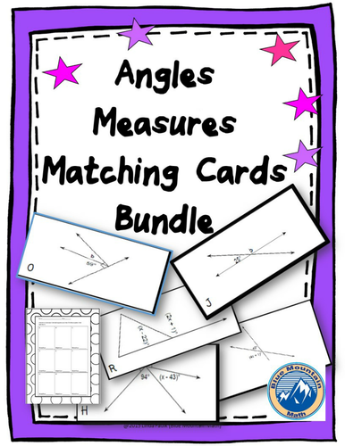 measure of angles matching card 2 deck set by linda92324 teaching resources tes. Black Bedroom Furniture Sets. Home Design Ideas