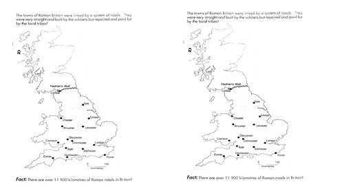 roman roads in britain by uk teaching resources tes. Black Bedroom Furniture Sets. Home Design Ideas