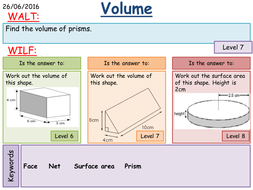 maths ks3 surface area and volume of prisms by mathsbyfintan