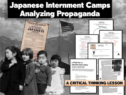 japanese internment exploring propaganda by bcgirl15 teaching resources tes. Black Bedroom Furniture Sets. Home Design Ideas