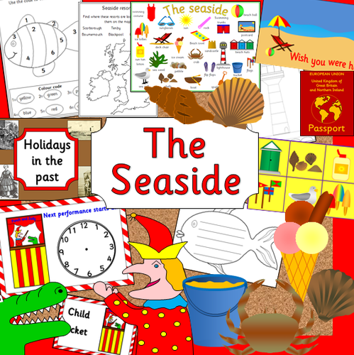 the seaside topic pack games holidays in the past punch and judy worksheets powerpoints etc. Black Bedroom Furniture Sets. Home Design Ideas