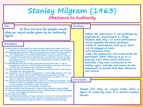 stanley milgram research paper
