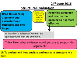 structure of a level english literature essays