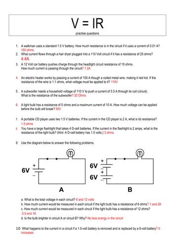 Resistance and resistors - series and parallel circuits ...