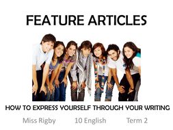 Introduction to feature articles and their components