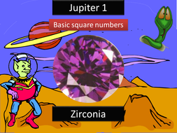 Jupiter - Basic Square Numbers