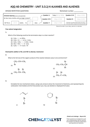 aqa as chemistry srq worksheet alkanes and alkenes by chemcatalyst teaching resources tes. Black Bedroom Furniture Sets. Home Design Ideas