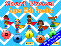 free short vowel super kids powerpoint game by earlycorelearning