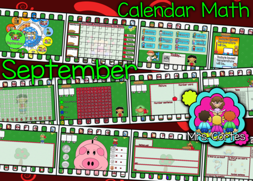 Kindergarten Calendar Smartboard : Smartboard calendar math month set english by us
