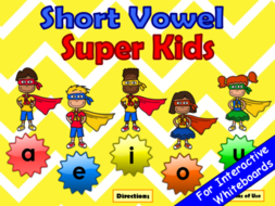 short vowels super kids powerpoint game by earlycorelearning