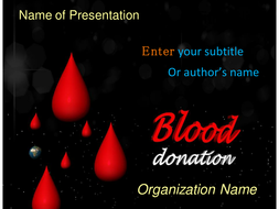 Blood donation powerpoint template by templatesvision teaching blood donation powerpoint template 4 slidesppt toneelgroepblik Image collections