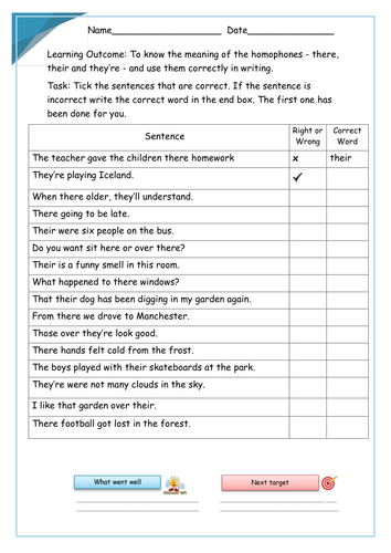 their there and they 39 re year 2 homophones worksheets by krazikas teaching resources tes. Black Bedroom Furniture Sets. Home Design Ideas