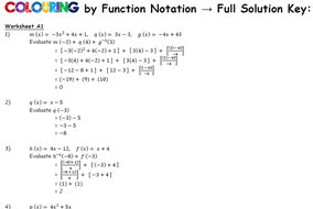 Coloring by Function Notation with Linear Inverses, Spiderman (25 ...