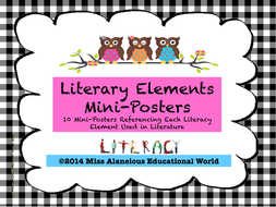 Literary Elements Of A Story Mini Posters By Missalaneious