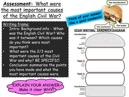 the english civil war by emmarh  teaching resources  tes  lcivilwarassessmentpptx