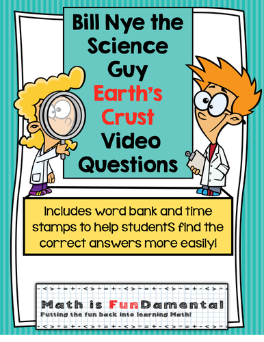 Bill Nye The Science Guy Earth 39 S Crust Video Questions W