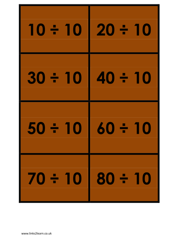 Wide range of 10 times table games activities for 10 times table game