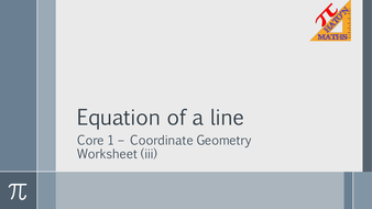 aqa core 1 coordinate geometry workbook and powerpoints by