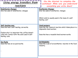 AQA Chemistry New Spec (Paper 1 Topic 5- exams 2018) – Energy Changes (4 5)  TRILOGY ONLY LESSONS
