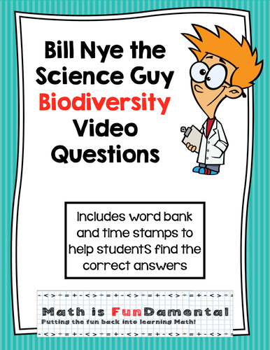 Bill Nye Video Questions - Biodiversity - w/ time stamp ...