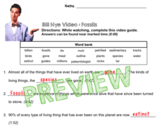 Bill nye video questions fossils w time stamp word bank and bill nye video questions fossils w time stamp word bank and urtaz Gallery